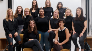 The 10 female founders on the Stealth Mode program, and team members Catherine and Sara.