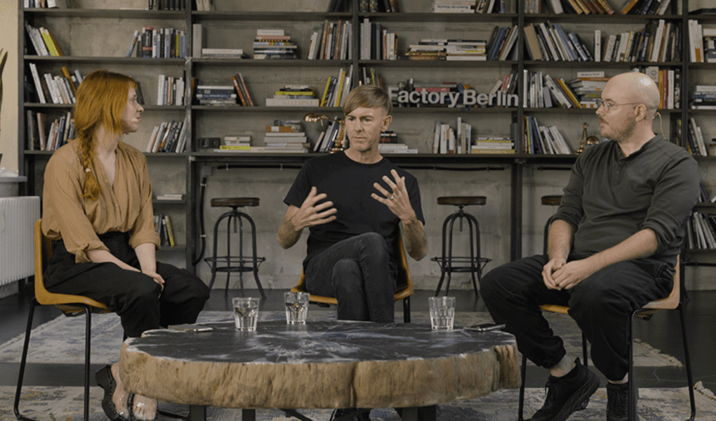 Holly Herndon and Mat Dryhurst interview Richie Hawtin for the video episode of their podcast, Interdependence