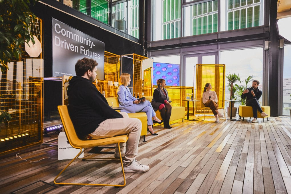 5 panelists discuss the future of community at the Factory Hammerbrooklyn Launch Event.