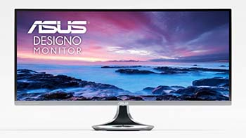 """8. ASUS Designo Curved MX34VQ 34"""" UWQHD 100Hz DP HDMI Adaptive-Sync Qi Wireless Charger Eye Care Frameless Monitor"""