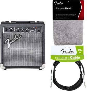 6. Fender Frontman 10G Electric Guitar Amplifier bundle