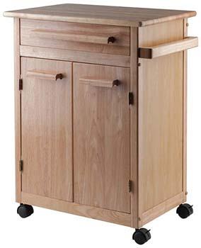 2. Winsome Wood Single Drawer Kitchen Cabinet Storage Cart.