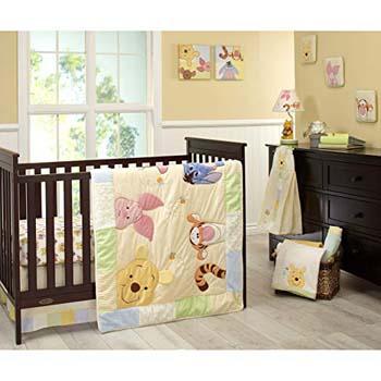 7. Disney Winnie the Peeking Pooh Nursery Crib