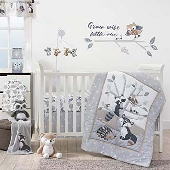 3. Bedtime Originals Little rascals Forest Animals 3-Piece Crib Bedding Set