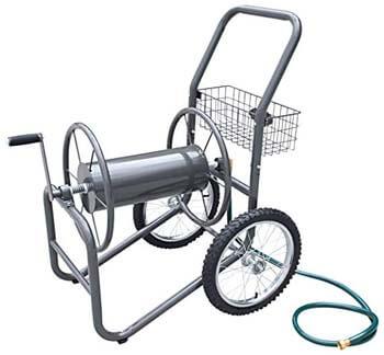 7. Liberty Garden Industrial Hose Reel Cart With Pneumatic Tires (2-Wheel)