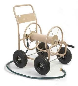 3. Liberty Garden Industrial Hose Reel Cart With Wheels
