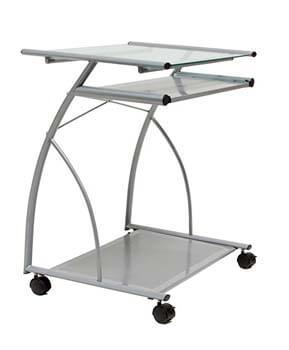 9. Calico Designs 50101 L-Shaped Computer Cart