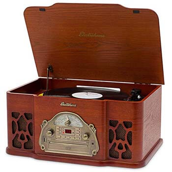 08. Electrohome Kingston 7-in-1 Vintage Vinyl Record Player Stereo System
