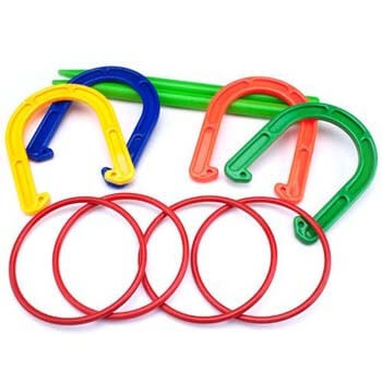 6. K-Roo Sports Plastic Horseshoe and Ring Toss Game Set