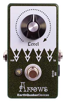 4). EarthQuaker Arrows & Devices Pre-amp Booster Guitar Pedal
