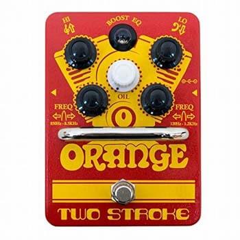 7). Orange 2 Stroke EQ Boost Pedal