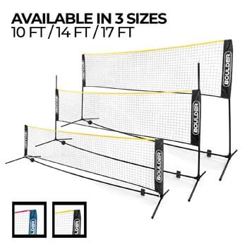 9. Set of Portable Net for Badminton, Tennis, Pickleball, Soccer Tennis and Kids Volleyball by Boulder