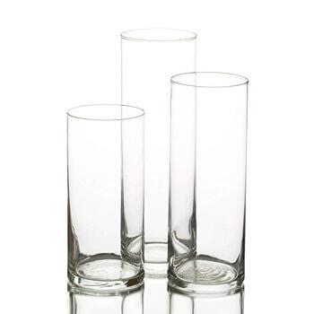 6. Eastland Glass Cylinder Vase Set of 3