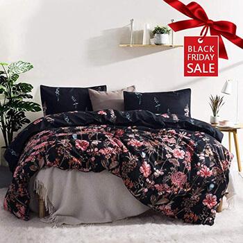 6. Leadtimes Queen Floral Duvet Cover Set