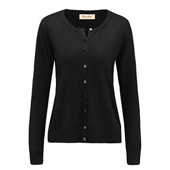 8. Panreddy Women's Wool Cashmere Classic Cardigan Sweater