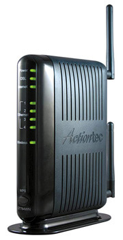 5. Actiontec 300 Mbps Wireless-N ADSL Modem Router (GT784WN)