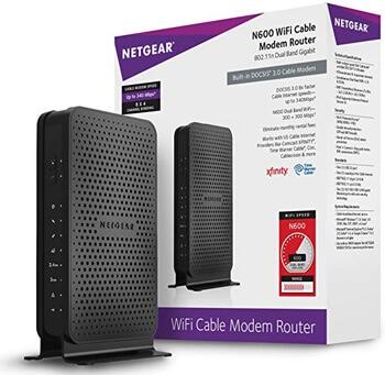 4. NETGEAR N600 (8x4) WiFi DOCSIS 3.0 Cable Modem Router (C3700)