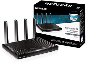 10. Netgear C7500-100NASNETGEAR Nighthawk X4 (24x8) AC3200 DOCSIS 3.0 Cable Modem WiFi Router Comb