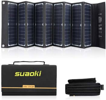2: SUAOKI Solar Charger 60W Portable Solar Panel Foldable