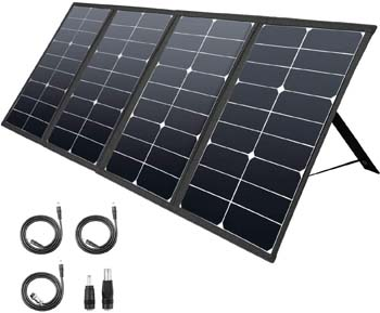 6: ROCKPALS 80W Portable Solar Panel Charger