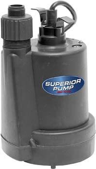 10. Superior Pump 91250 Utility Pump, 1/4 HP