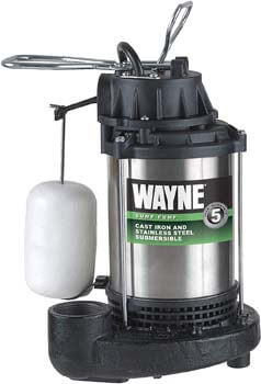4. WAYNE CDU1000 1 HP Submersible Cast Iron and Stainless Steel Sump Pump
