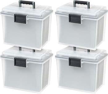 9. IRIS USA, Inc. UCB-HFB Letter Size Portable Weathertight File Box