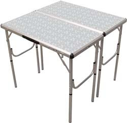 8. Coleman Pack-Away 4-in-1 Adjustable Height Folding Camping Table