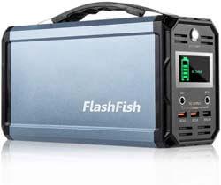 3. FF Flashlight 300W Solar Generator, FlashFish 60000mAh Portable Power Station
