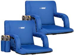 10. VIVOHOME Pack of 2 Reclining Stadium Seat Chairs