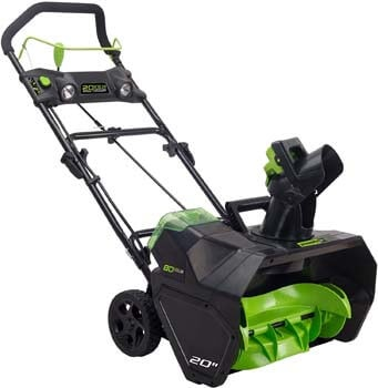 7. Greenworks Pro 80V 20-Inch Cordless Snow Thrower, Battery Not Included, 2601302
