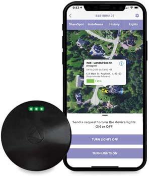7. LandAirSea 54 GPS Tracker