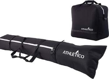 4. Athletico Padded Two-Piece Ski and Boot Bag Combo