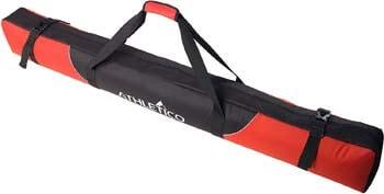 8. Athletico Mogul Padded Ski Bag - Fully Padded Single Ski Travel Bag