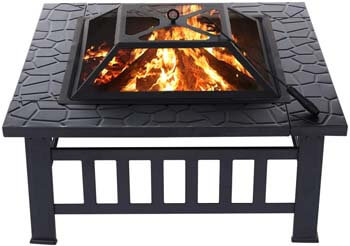 4. KINGSO 34'' Outdoor Fire Pit