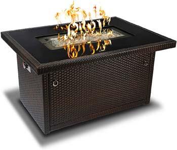 3. Outland Living Series 403-Espresso Brown Fire Table, Espresso Brown/50,000 BTU