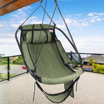 7. Bathonly Hammock Air Chair with Metal Bar Frame, Sky