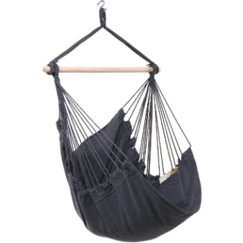 6. Y- STOP Hammock Chair Hanging Rope Swing - Max 330 Lbs