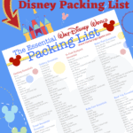 Heading to Walt Disney World Soon. Pack more fun and print this Essential Walt Disney World Packing List so you don't forget any of the Disney Packing essentials! Plan your perfect Disney World Vacation with these helpful Disney vacation tips. Print out this free Disney Packing List before you leave. #disneyworld #disneypackinglist #disneyhacks #disneytrip