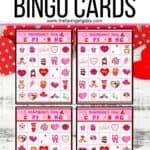 Cupid Valentine Bingo Cards
