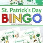 These free printable St. Patrick's Day Bingo cards are fun for kids to play at home or classroom parties. Download these bingo cards today for some St. Patrick's Day fun! #stpatricksdaycraft #stpatricksdaygame #freeprintable
