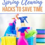 Save hours on your spring cleaning with these 10 Spring Cleaning Hacks. These cleaning shortcuts will save your hours and leave your house sparkling clean.