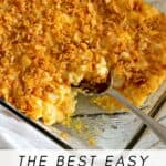 Create an easy and delicious meal for the entire family with this Easy Potato Casserole. It is a family favorite consisting of ingredients that blend perfectly together.