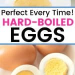 Here is my foolproof method on how to boil eggs. Follow these tips and you will get perfect hard-boiled eggs every time. Learn how to make perfect Hard-Boiled Eggs. Try either of these two cooking methods to make the perfect hard-boiled eggs. I am also sharing my pro tips for dying eggs too. Learn how to easily dye Easter eggs without a kit.
