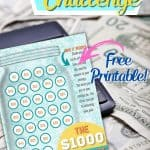 Ready for a Challenge? Download this free printable $1000 Savings Challenge. Put your budgeting skills to work and save some dinero using this fun printable.