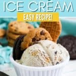 It's time to think outside of the box when it comes to ice cream. Give this Cookie Jar Ice Cream a try and you'll fall in love! This easy homemade ice cream recipe is made with heavy cream, sugar and your favorite crushed cookies - right from the cookie jar. Everyone will love this easy ice cream treat.