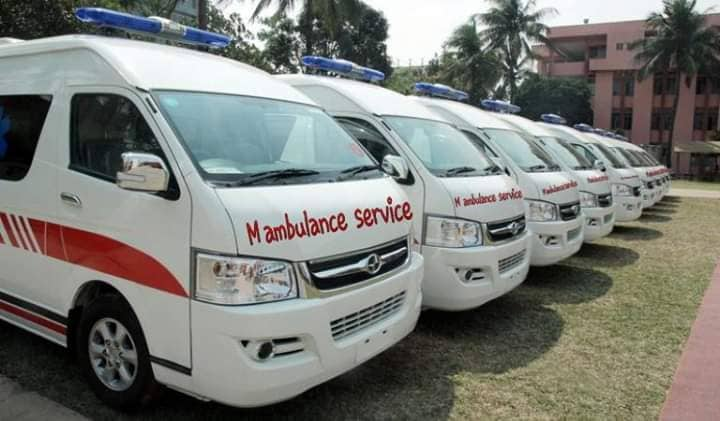 Monthly ambulance rentals are leased to the office company