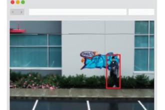 Virtual Guard detects an unauthorized individual vandalizing property