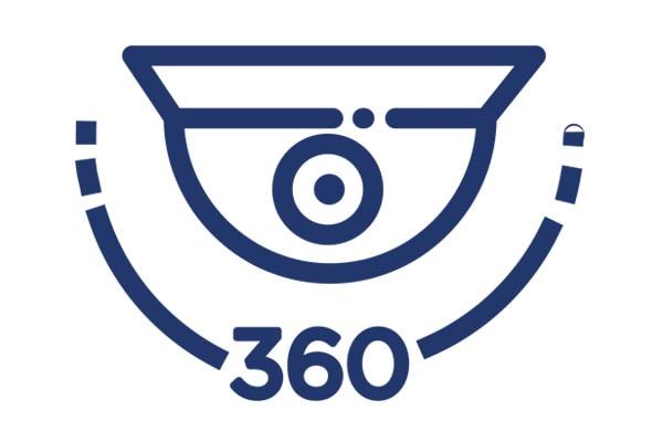 360 degree video surveillance camera