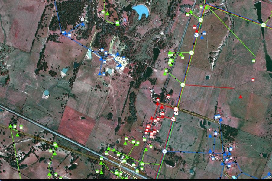 Satellite map within LandBase